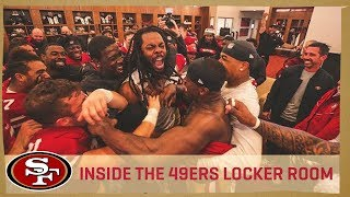 Inside the Locker Room After OT Victory vs. Seattle | San Francisco 49ers
