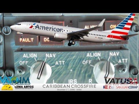 PMDG 737 on Vatsim - TJSJ San Juan, Puerto Rico.