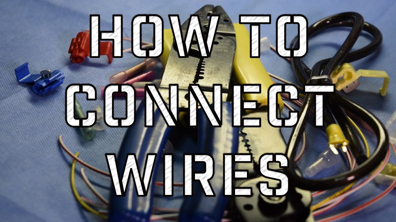 how to connect and splice wires in your vehicle - YouTube
