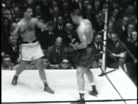Rocky Marciano knocks out Joe Louis