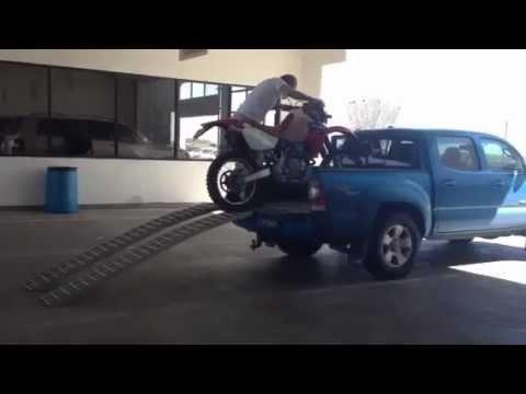 Motorcycle Dirt Bike Carrier Rack Hitch Hauler Ramp