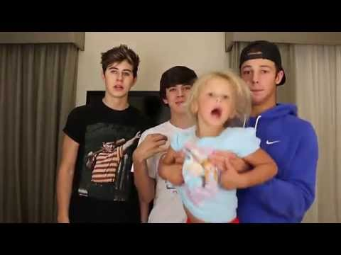 Skylynn Chubby Bunny Challenge | Cameron Dallas, Nash, and Hayes Grier