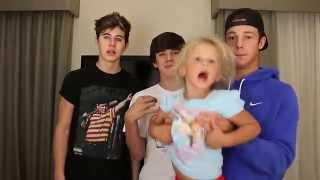 Skylynn Chubby Bunny Challenge | Cameron Dallas, Nash, and Hayes Grier