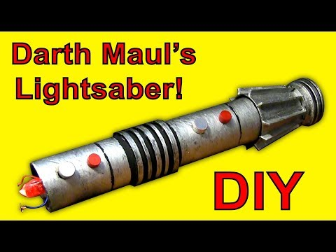 HOW TO MAKE A Darth Maul Lightsaber! (Star Wars DIY)