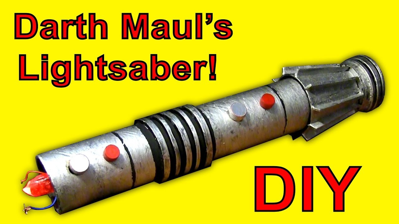 How To Make A Darth Maul Lightsaber Star Wars Diy Youtube