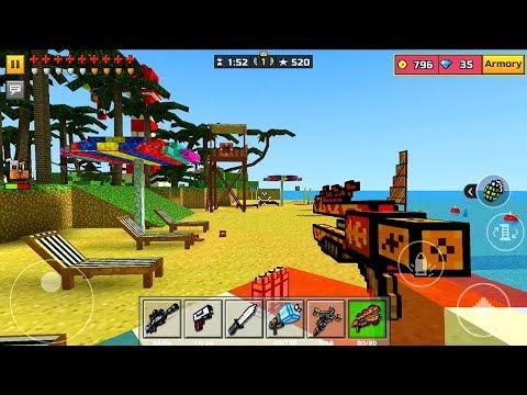 Pixel Gun 3D Android iOS Gameplay Paradise Resort