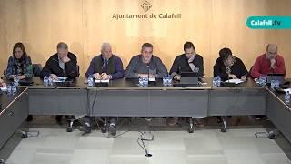 Ajuntament de Calafell: sessió plenària extraordinària, 26 de febrer de 2018