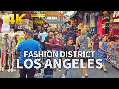 LOS ANGELES - LA Fashion District, Downtown Los Angeles, California, USA, Travel, 4K UHD