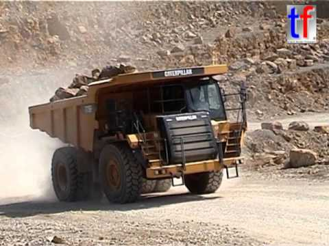 Caterpillar 775f Dump Truck Working In A Quarry Steinbruch Germany 2007