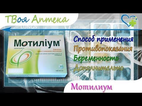 Мотилиум таблетки - показания (видео инструкция) описание, отзывы