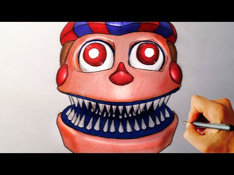 How To Draw Nightmare Balloon Boy Jumpscrare From Five Nights At Freddy's 4 FNAF 4 Drawing Lesson
