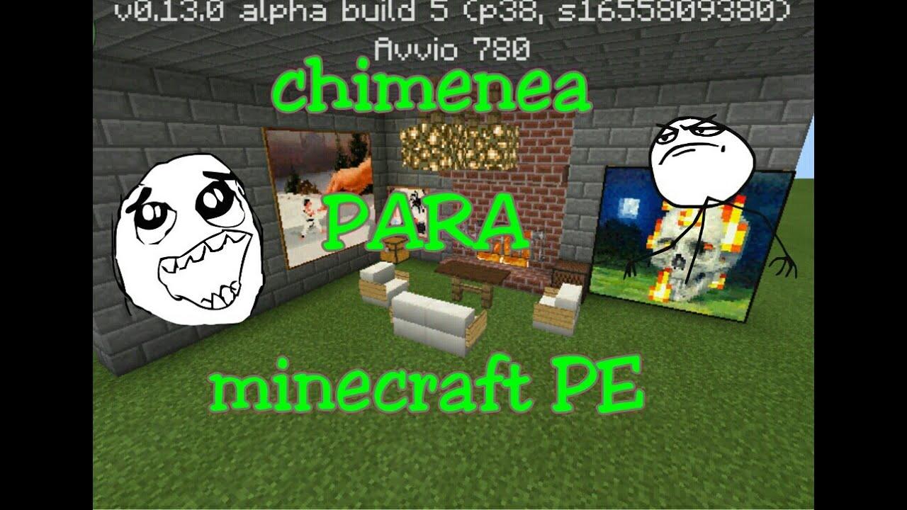 Como hacer una chimenea para tu casa en minecraft youtube - Como construir una chimenea ...