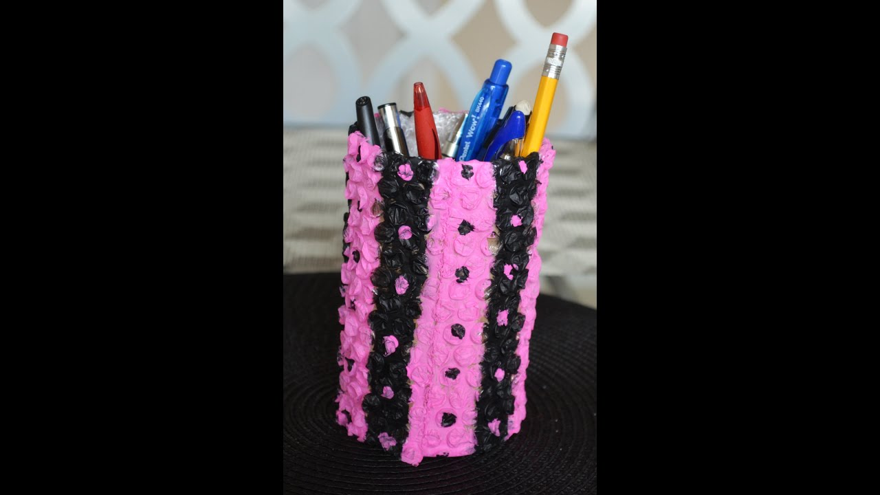How to make a pen spoon tooth brush holder best out of for Best out of waste creative things