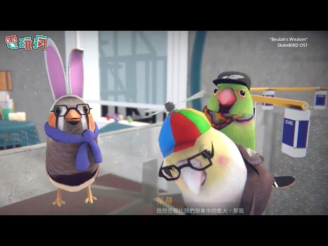《滑板鳥 SkateBIRD》跟著可愛圓胖小鳥 一起在家裡翻過釘書機、紙板展現高難度滑板技巧