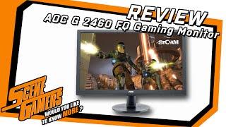 review der aoc g 2460 fq gaming monitor mit 144 hz im test scene gamersde