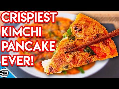 Korean Kimchi and Shrimp Pancakes