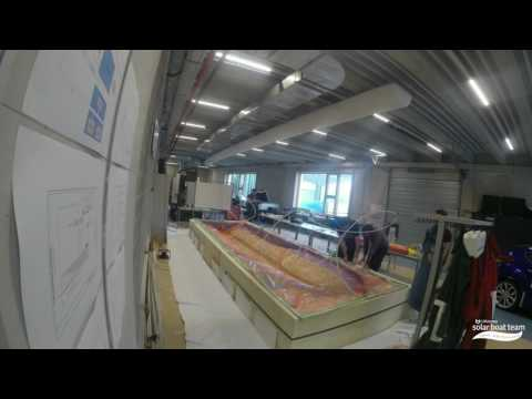 Time Lapse Build of UAntwerp Solar Boat 2017