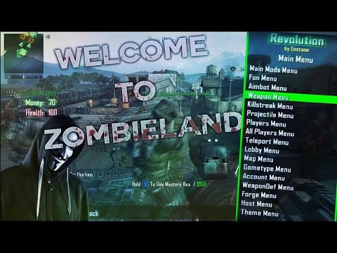 Bo2 Open Zombieland 191 Modded Lobbies XBOX ONE AND 360