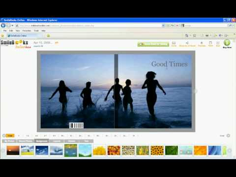 SmileBooks Online - Preview your photo book in full screen mode
