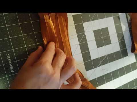 Fall fabric tassel garland  Part 2 rolling the tassel