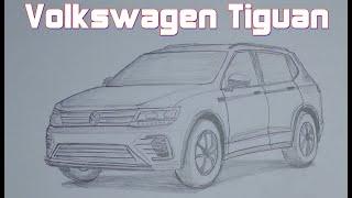 Çok İstenilen Volkswagen Tiguan Çizimi-Bölüm 104
