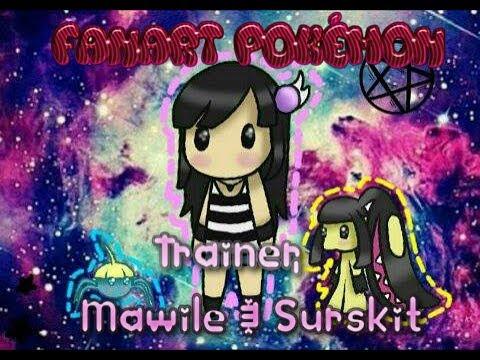 fanart pokémon trainer mawile surskit chibi youtube