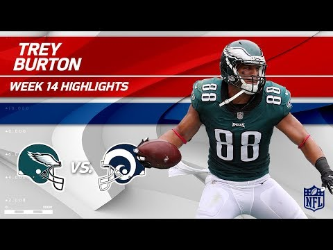 Philly TE Trey Burton Hauls in 2 TDs vs. LA! | Eagles vs. Rams | Wk 14 Player Highlights