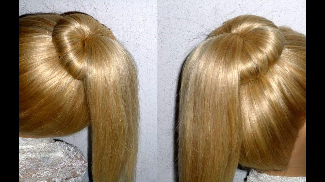 Easy Frisuren Dutt Mit Duttkissen Machen Für Mittel Langes Haar