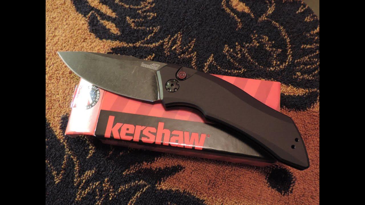 Kershaw Launch 1 Automatic Knife Blackwash 7100bw