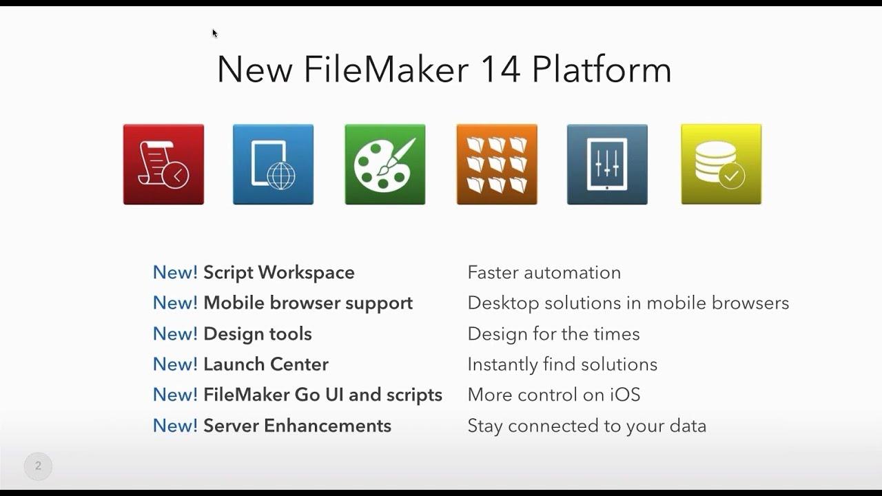Webinar: Meet the FileMaker 14 Platform