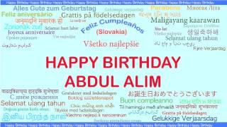 AbdulAlim   Languages Idiomas - Happy Birthday