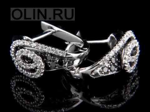 Серьги с бриллиантами в каталоге ОЛИН