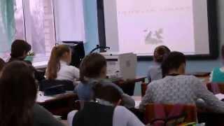 Фрагмент урока по русскому языку в 5 классе