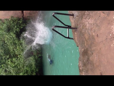 African Tourism; Epic Fall From The Yankari Wikki Warm Spring, Bauchi State, Nigeria