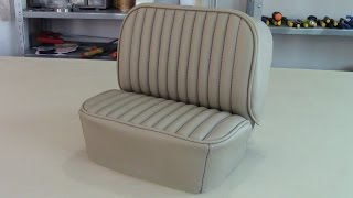 UPHOLSTERY BASICS - Patterning a Forward Lateral Panel for car seats.