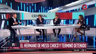 El hermano de Messi chocó y terminó detenido