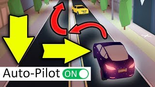 SECRET SELF DRIVING FEATURE IN JAILBREAK! | Roblox
