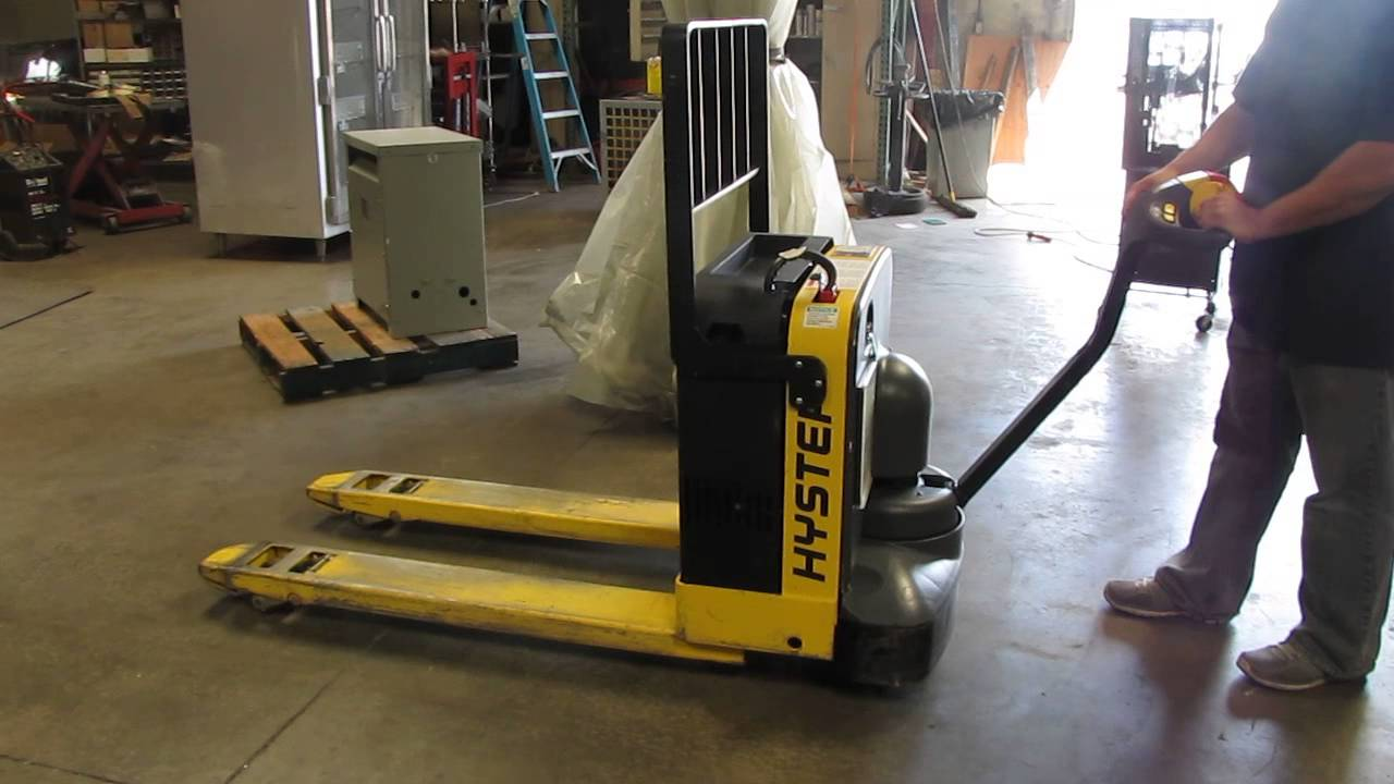 Hyster 4000 Lbs Electric Pallet Jack Lift Truck 47 Forks
