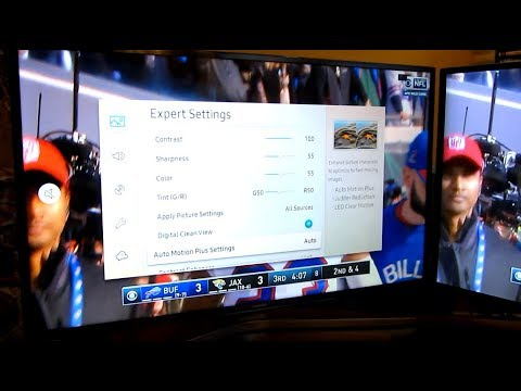 Samsung 4K MU6300 | Fast Motion Blur Problem | How to Disable Motion Plus Setting