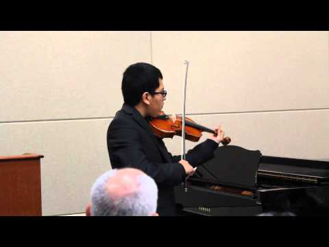 Jorge De La Cruz, violin student of Anna 