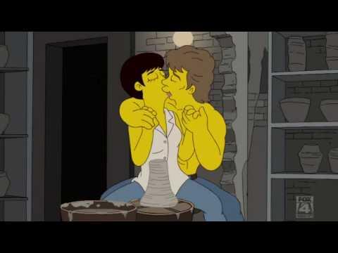 The Simpsons Bart Kisses a Girl Season 21 Episode 15