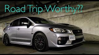 Is the 2016 Subaru WRX STI good for road trips?