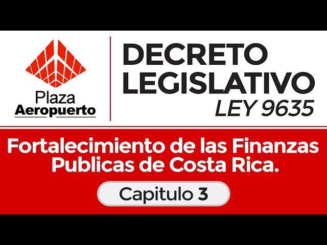 Capitulo 3 - Decreto legislativo ley 9635 - Fortalecimiento de las finanzas publicas.