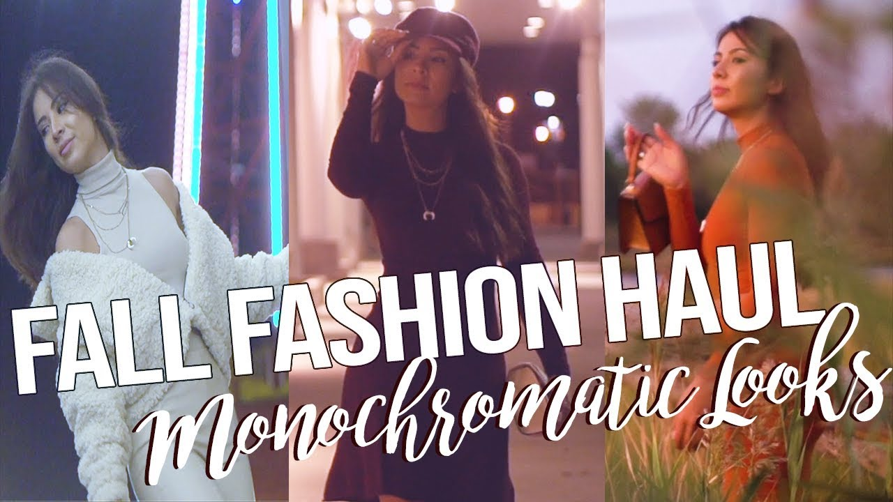 [VIDEO] - CASUAL FALL OUTFIT IDEAS FOR 2019   MONOCHROMATIC OUTFITS 4