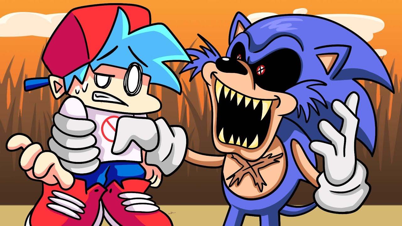 Download BOYFRIEND vs. SONIC.EXE?!  Friday Night Funkin' Logic | Cartoon Animation