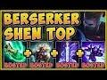 NO TEAM NEEDED?? PERMA TAUNT BERSERK SHEN IS 100% UNFAIR! SHEN S9 TOP GAMEPLAY! League of Legends