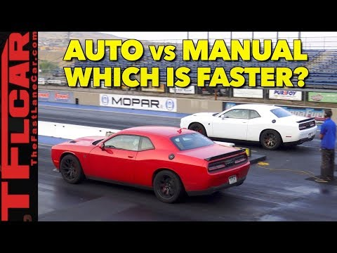 Whats Faster an Automatic or Manual Hellcat?  Watch This Drag Race to Find Out