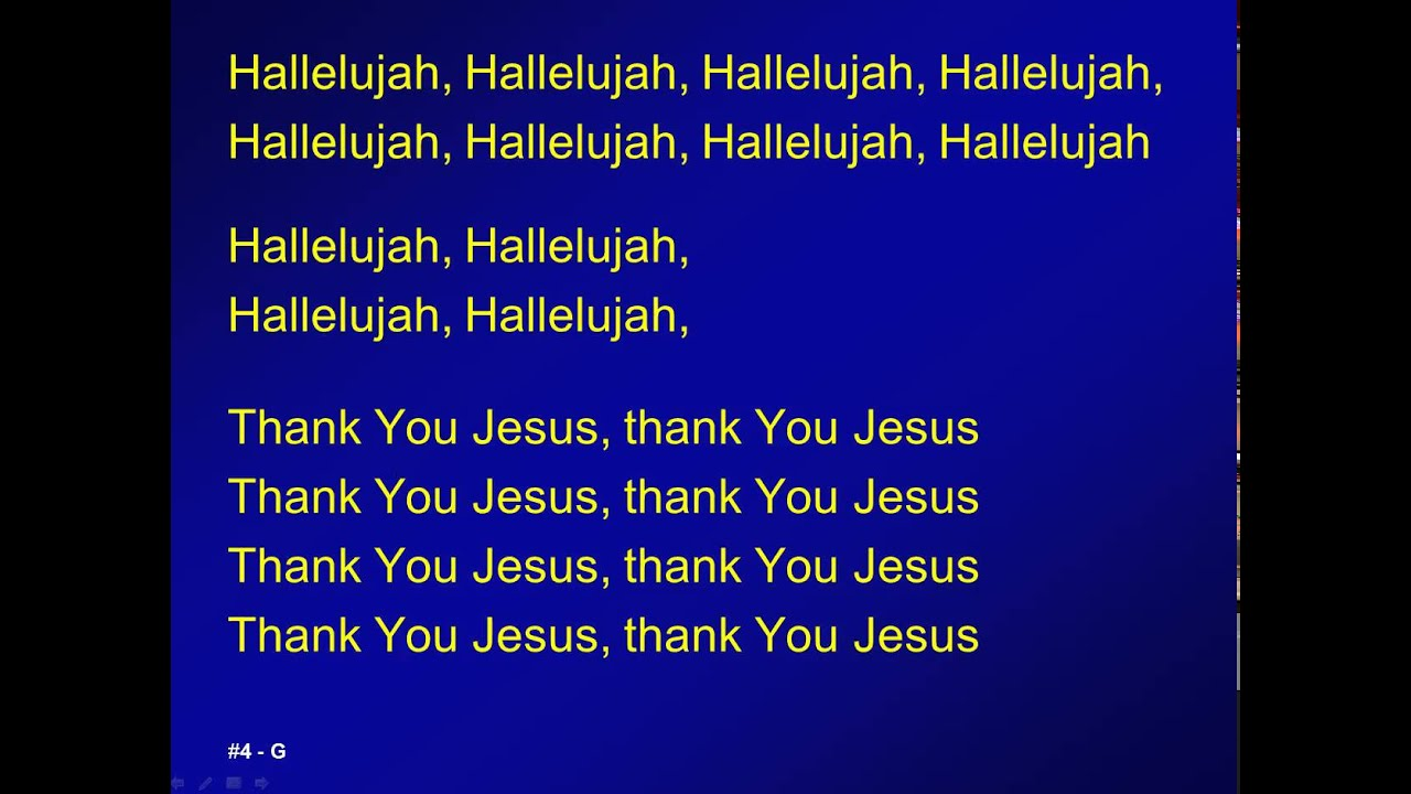 004 - Hallelujah, thank you Jesus - M Chords - Chordify
