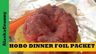 Foil Packet Hobo Dinner For Barbeque Or Campfire