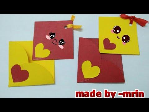 Side folder greeting card, greeting card with envelope (mrin art)